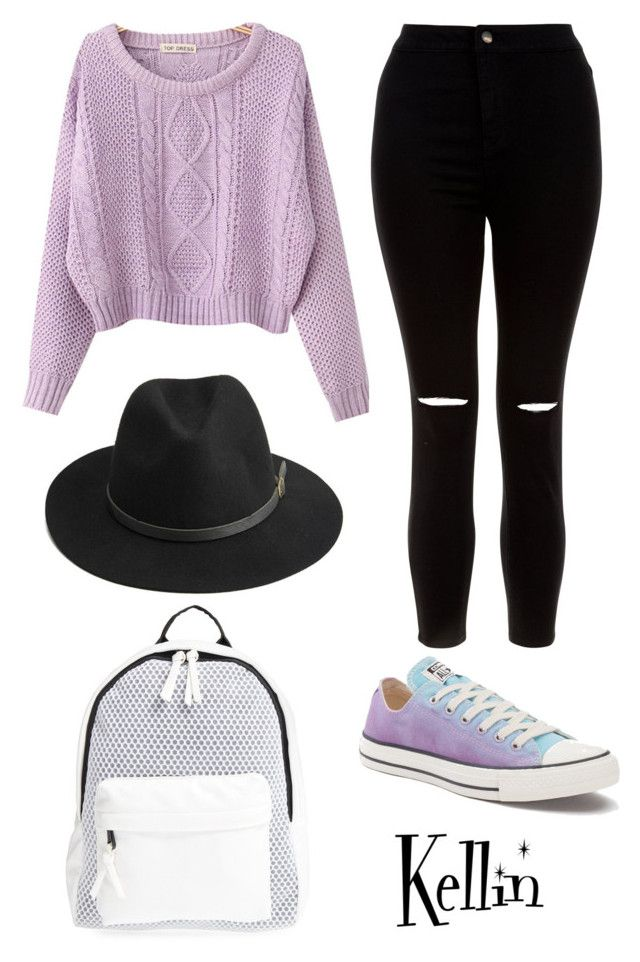 """""""Untitled #263"""" by bandsdestroyamylife on Polyvore featuring Chicnova Fashion, New Look, Converse, BeckSöndergaard and Poverty Flats"""