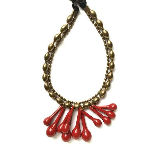 Marni beaded pendant necklace - Black