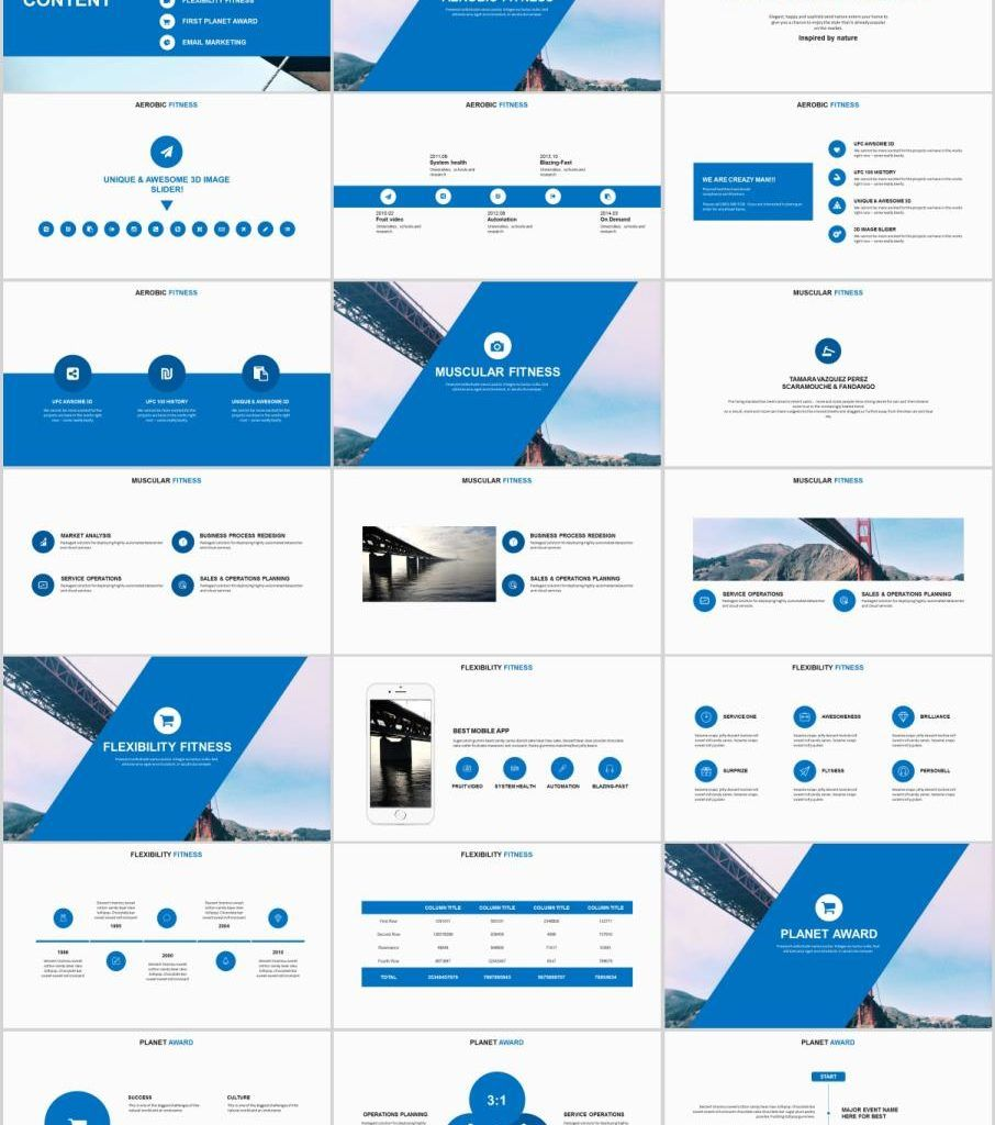 30+ Blue multipurpose PowerPoint templates (With images
