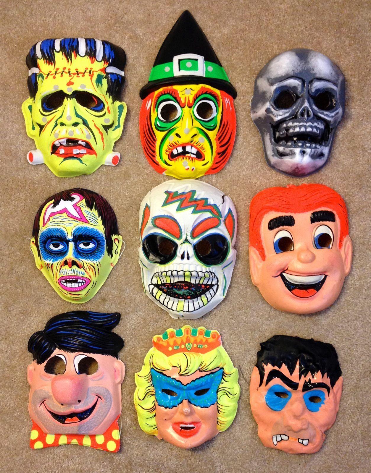 Ben Cooper Halloween masks, 60's & 70's, | Old school Halloween ...