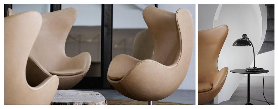 Fritz Hansen Egg Chair Von Arne Jacobsen 1958 Leder Natur