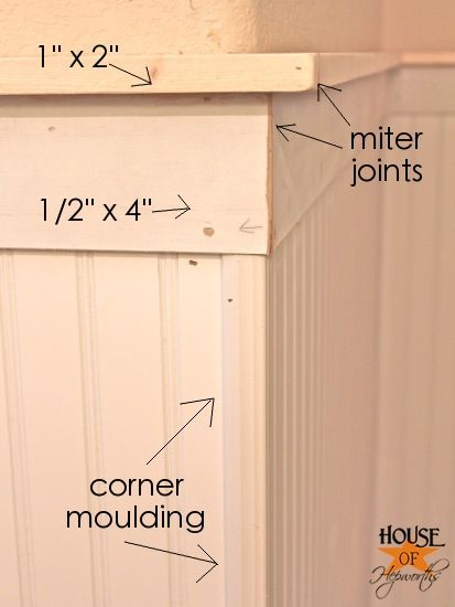 how to hang beadboard different layers of moulding labeled for easy www - Bathroom Beadboard