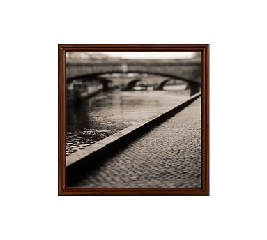 "Bridge by Michal Venera, 25 x 25"", Ridged Distressed, Espresso, No Mat"