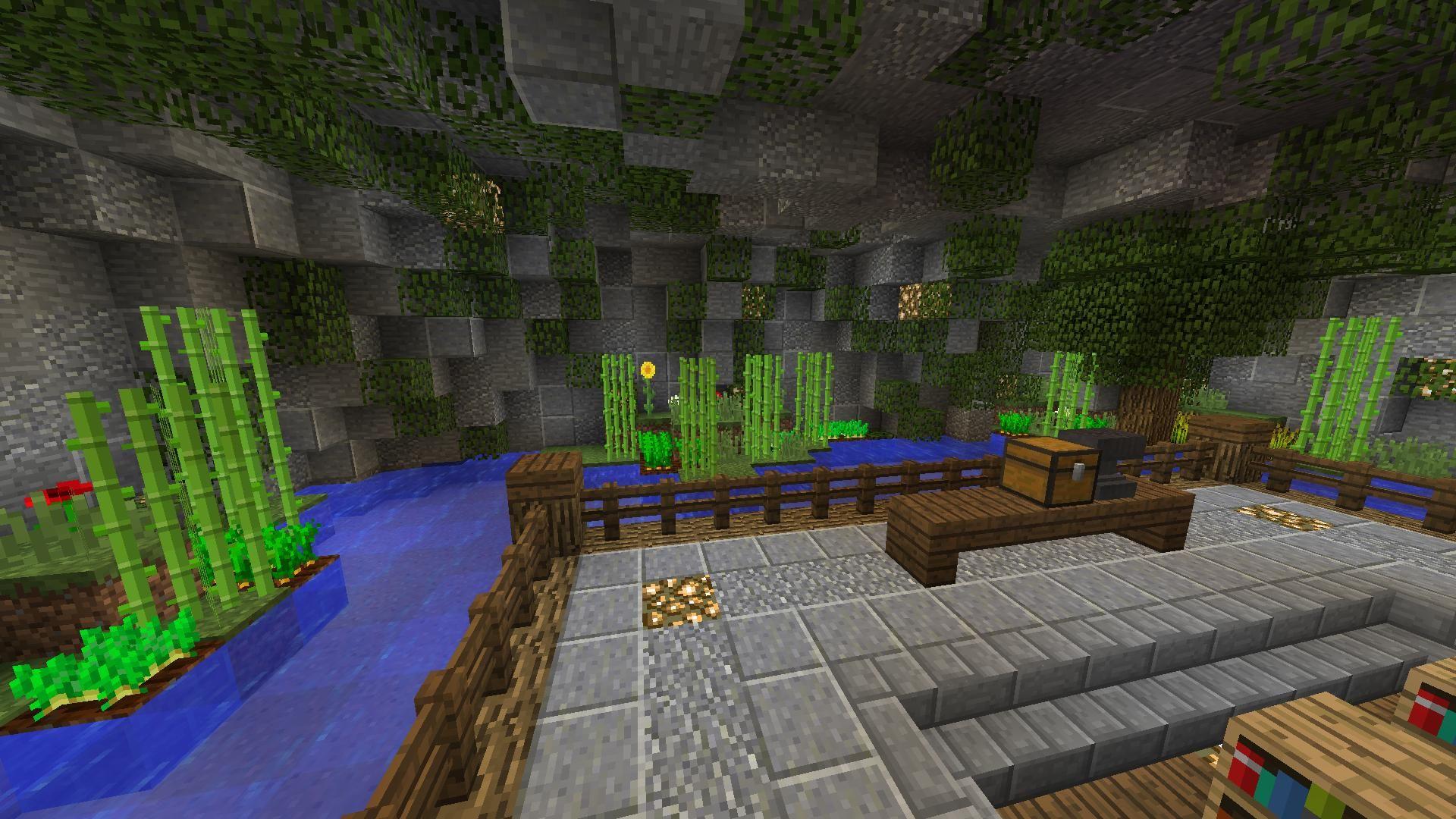 Minecraft Interior Room Ceiling Design Nature Inspired Minecraft Room Ceiling Design Minecraft Underground