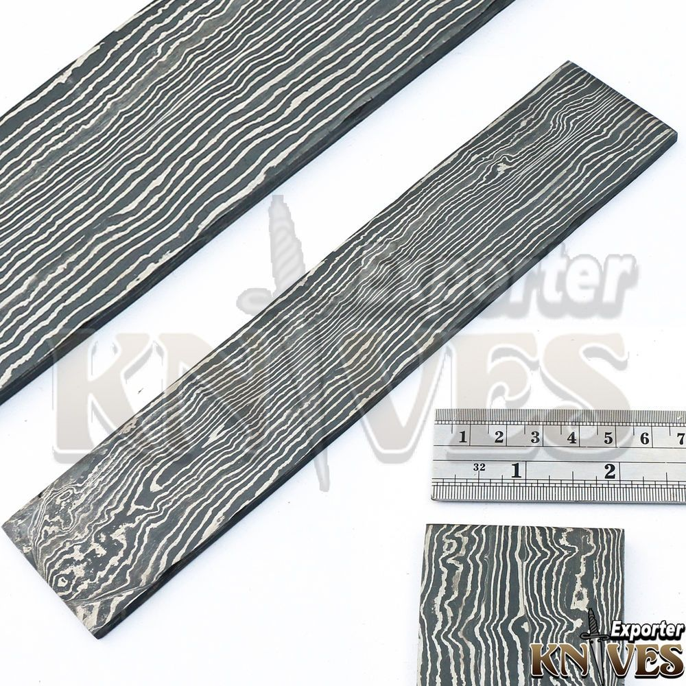 Andy Alm Custom Forged Damascus Straight Line Pattern Billet For