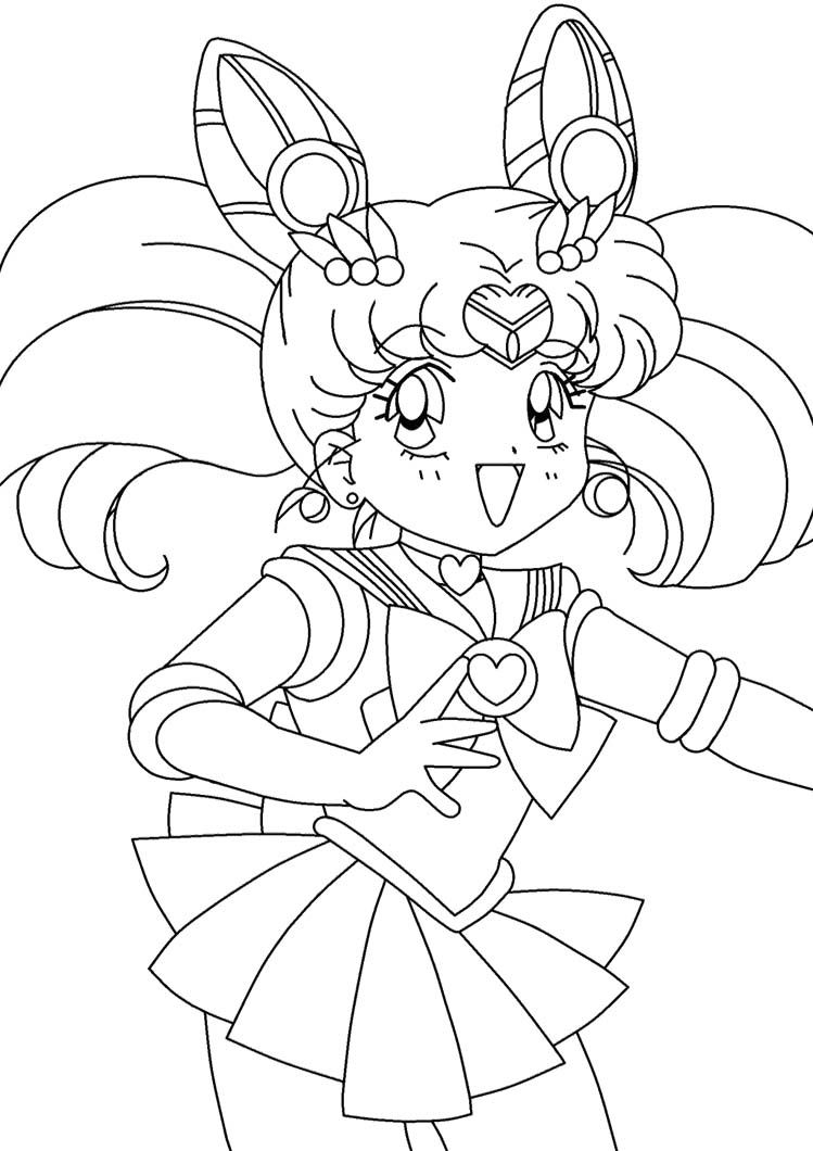 Sailor Mini Moon Coloring Pages Sailor Moon Coloring Pages Moon