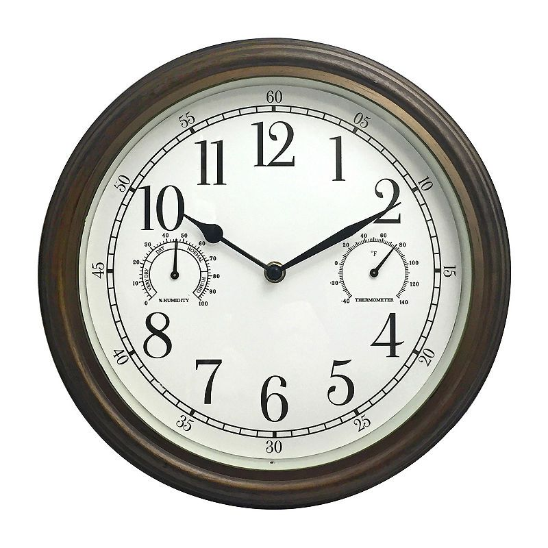 Westclox 12 Indoor Outdoor Round Wall Clock Outdoor Wall Clocks Wall Clock Outdoor Clock