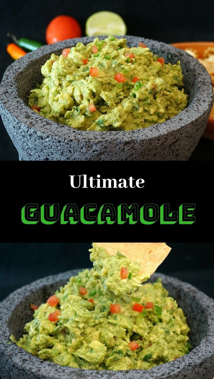 Ultimate Guacamole Dip Recipe! Easy to make and so amazingly delicious.