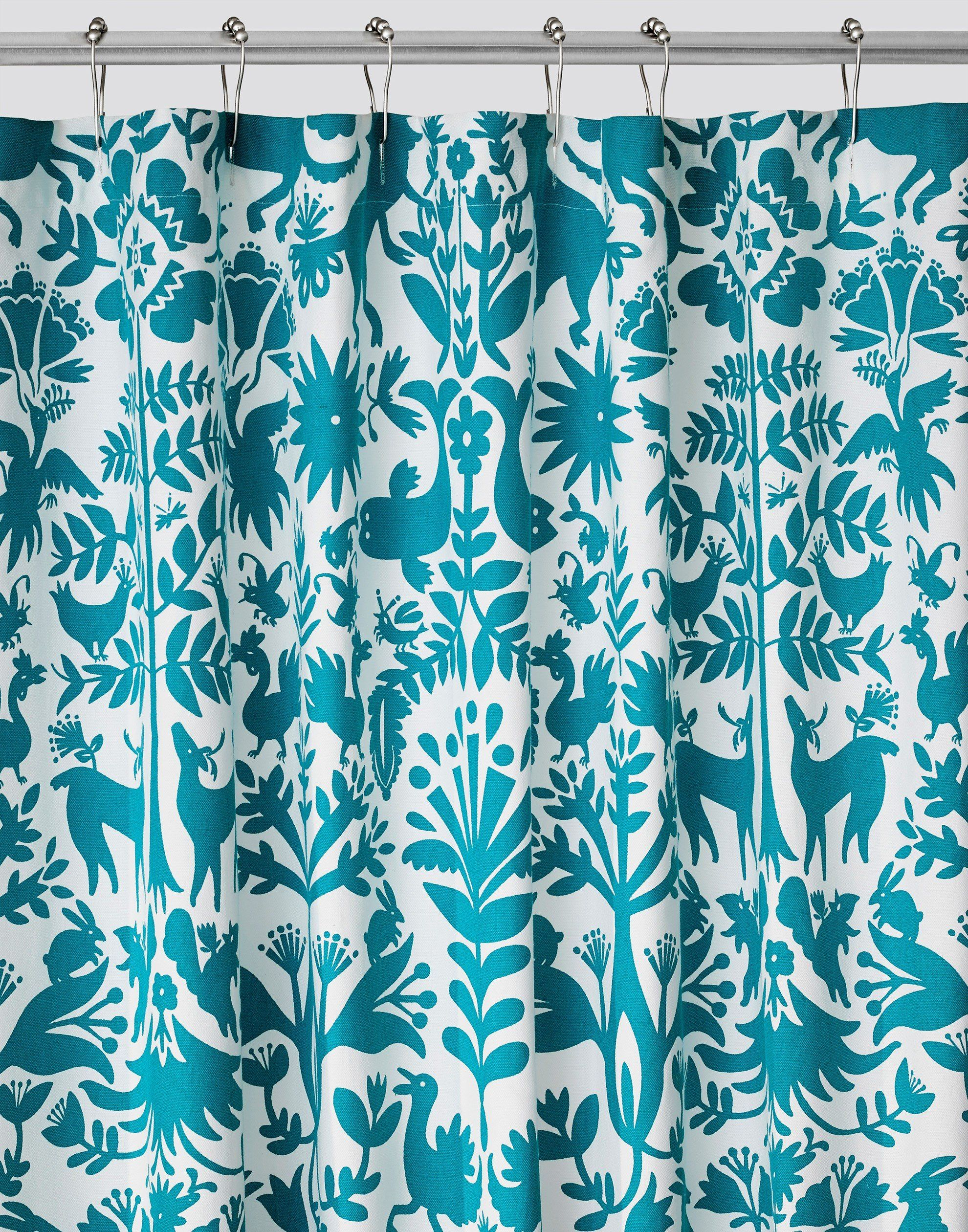 Otomi Turquoise Shower Curtain Default Title Nautical Shower