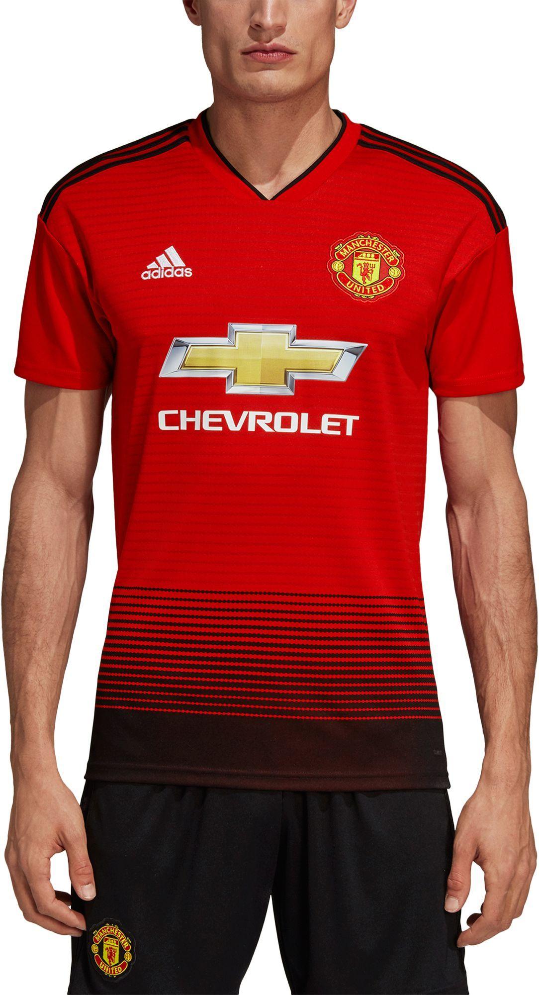 low priced 43d4a d990b adidas Men's Manchester United 2018 Stadium Home Replica ...