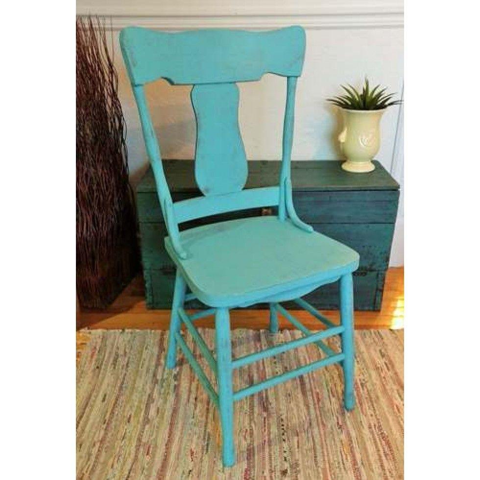 Chaise En Bois Repeinte chaise de bois vintage repeinte turquoise   chaise, bois, meuble