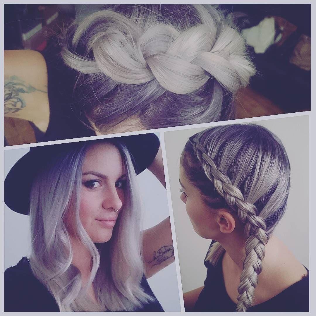 new hair by hairbyluu color d coloration platine blanc white whitehair grey gris acier. Black Bedroom Furniture Sets. Home Design Ideas