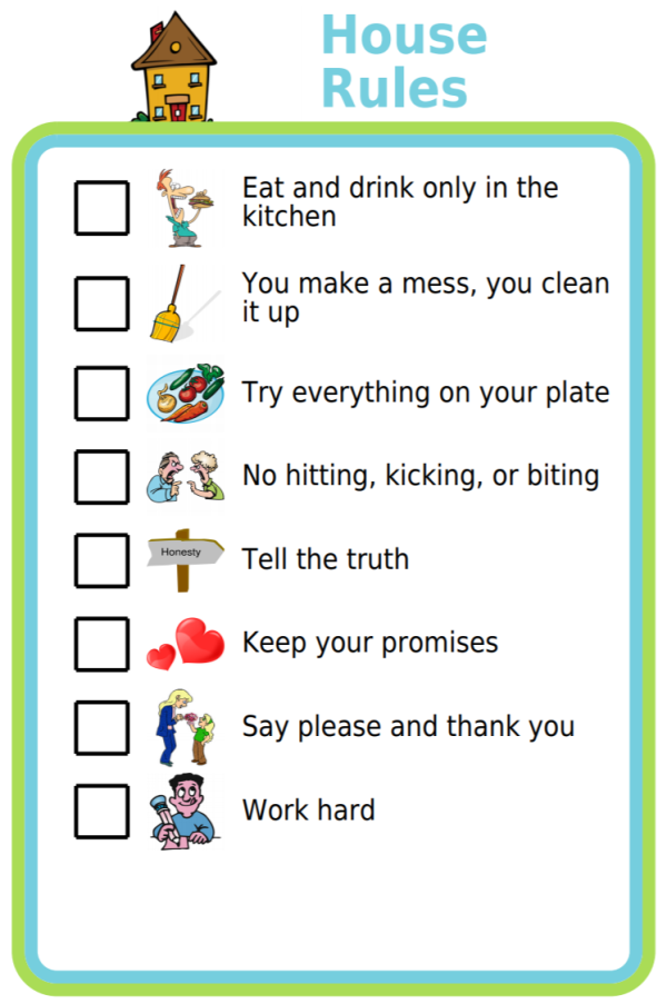 Free Printable House Rules Rules For Kids Kids House Rules Kids Behavior