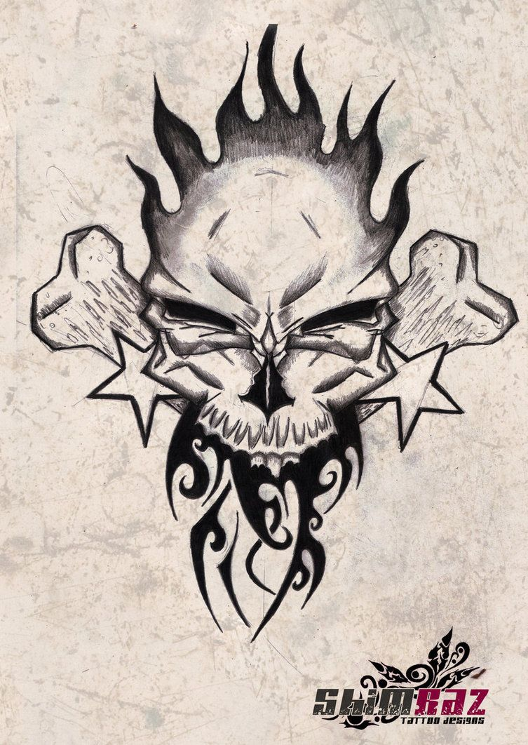 Free skull tattoo designs to print - Free Skull Tattoo Designs To Print