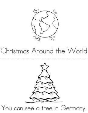 Christmas Around the World Mini Book from TwistyNoodle.com