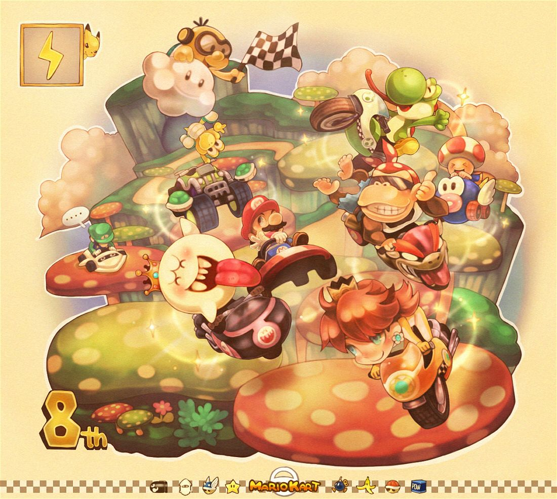 Donkey kong mario kart wii car tuning - Mario Kart Wii Fan Art Haha Pikachu Up By The Lightning Bolt