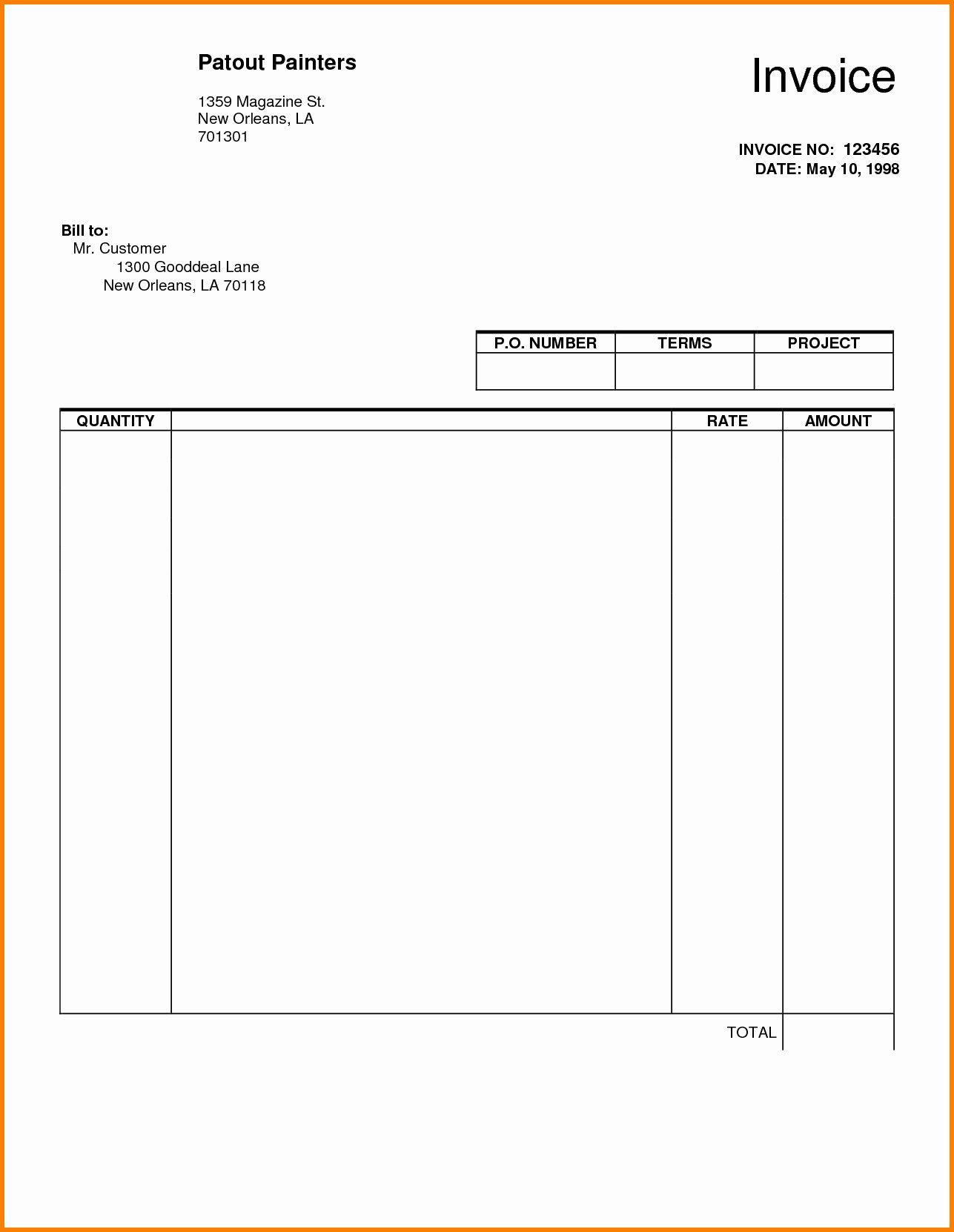 Google Docs Receipt Template Lovely Blank Invoice Pdf Invoice Template Word Invoice Template Receipt Template