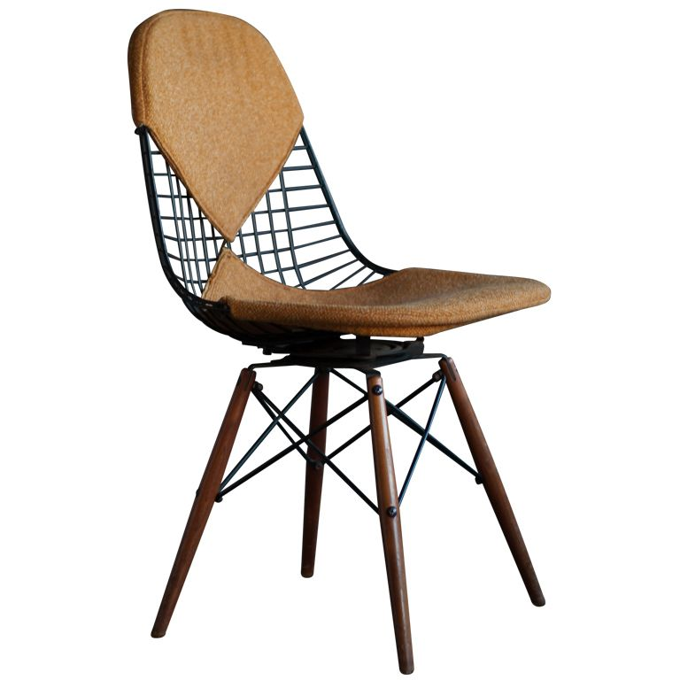 seng chicago chair modern outdoor lounge canada eames swivel dowel legged dkw 1 rare leg with walnut legs designed by charles ray for herman miller mechanism from of