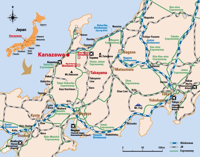 Kanazawa Area Map Japan Sightseeings Pinterest Kanazawa and Japan
