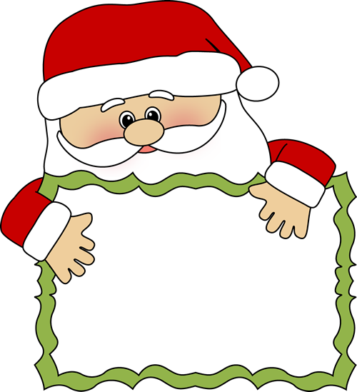 santa clip art santa sign clip art santa peeking over a blank rh pinterest com