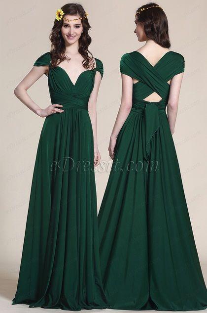 Convertible Dark Green Bridesmaid Dress Evening Gown 07154704 Dark Green Bridesmaid Dress Infinity Dress Bridesmaid Infinity Dress Ways To Wear