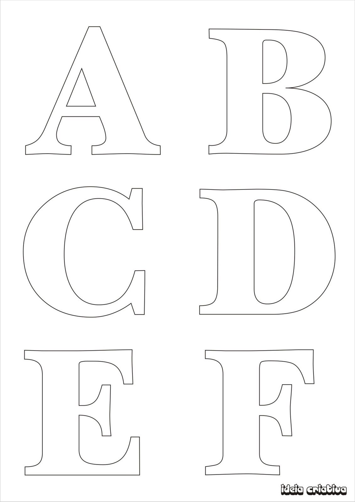 Molde De Letras Para Imprimir Alfabeto Completo Fonte