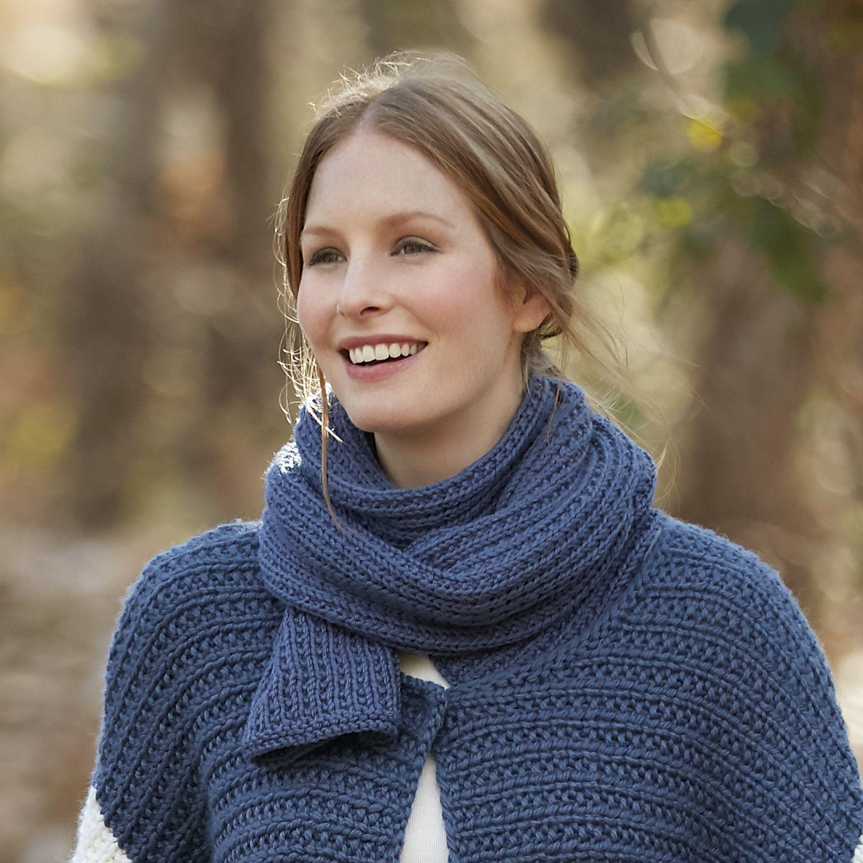 Uitgelezene patroon breien haken dames sjaal herfst winter katia 6091 35 g ML-07