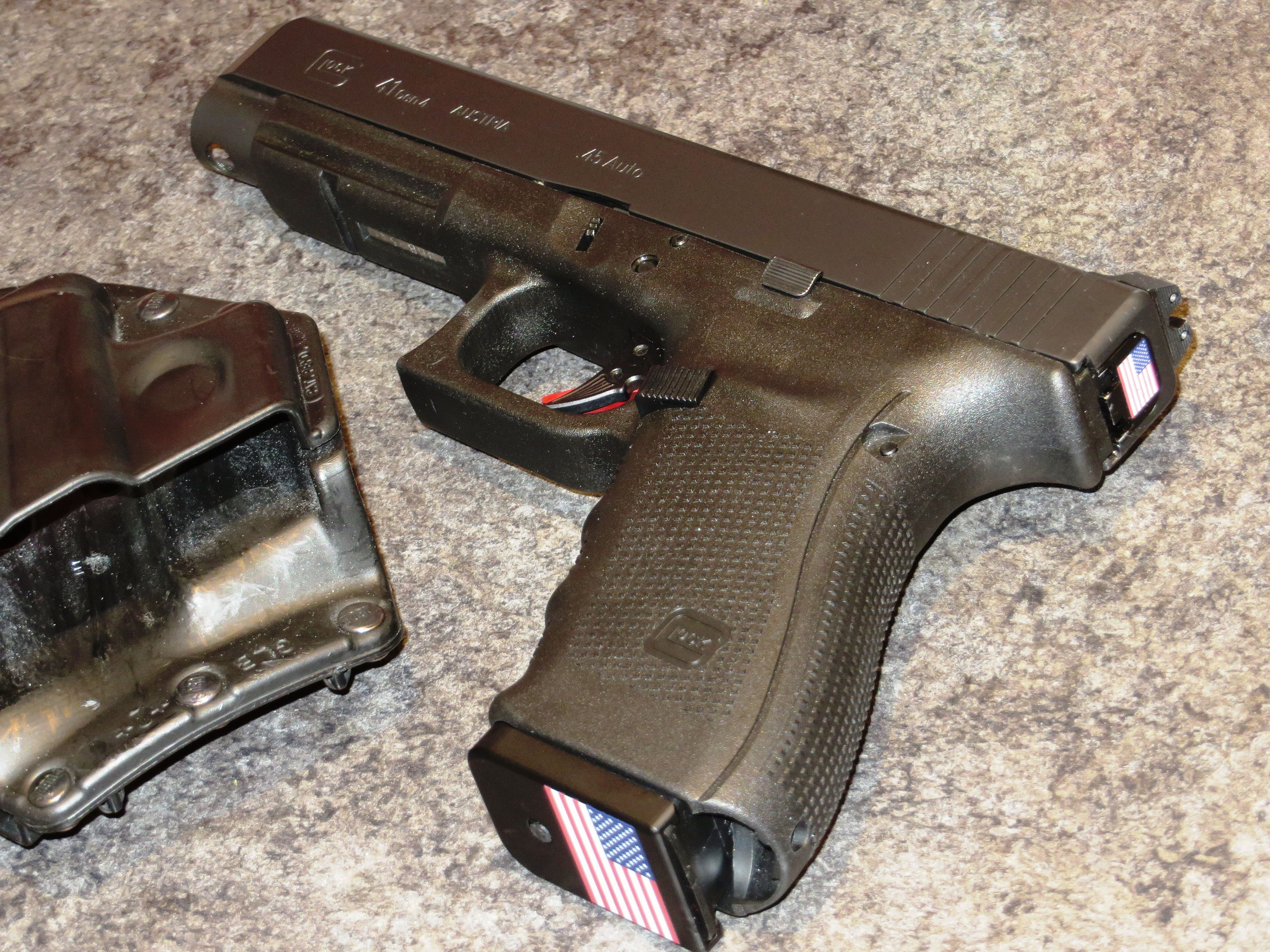 Glock G41 Gen4, ZEV Tech trigger, firing pin, and firing pin