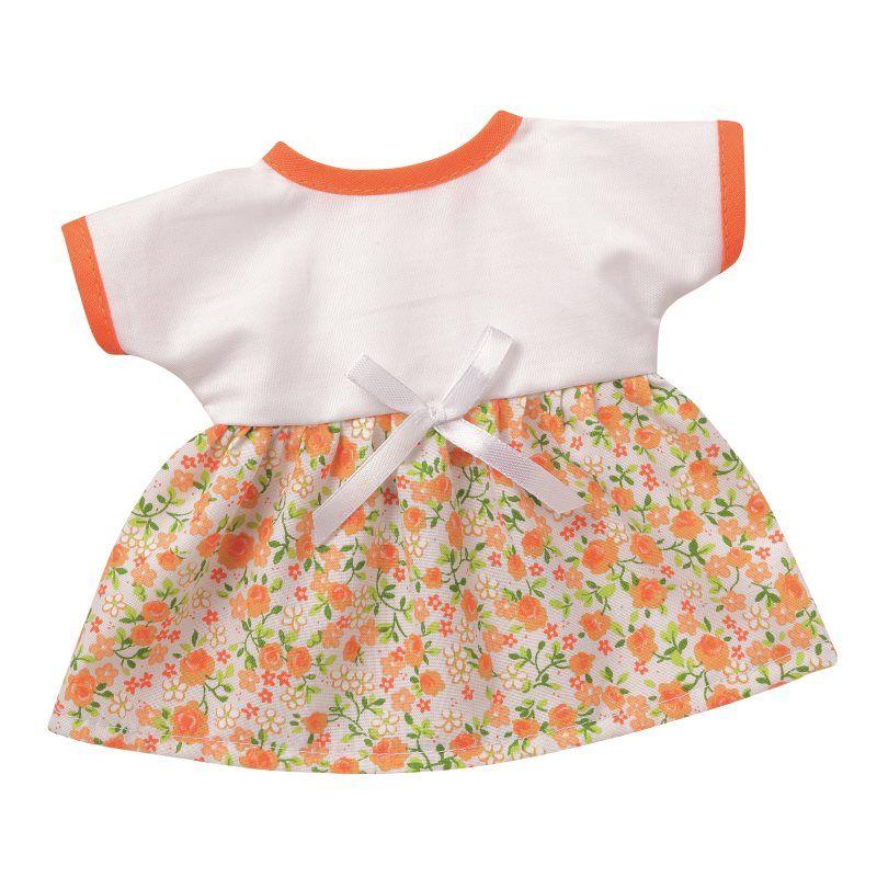 Bunte Sommerkleider weiss mit Blütenranken Puppenkleidung für 24-26 ...