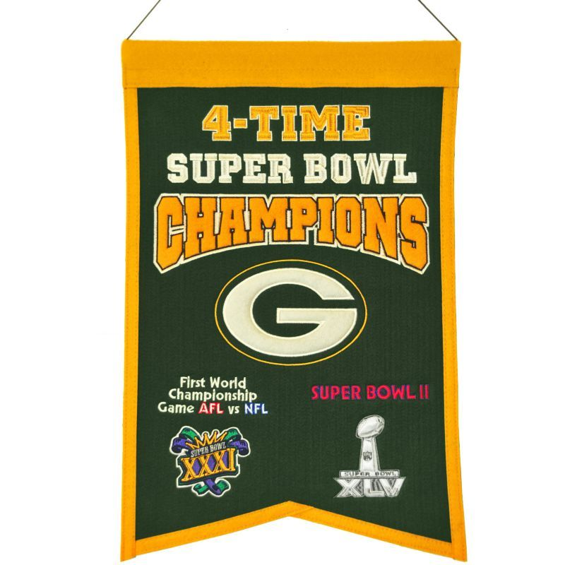 Winning Streak Green Bay Packers 4 Time Super Bowl
