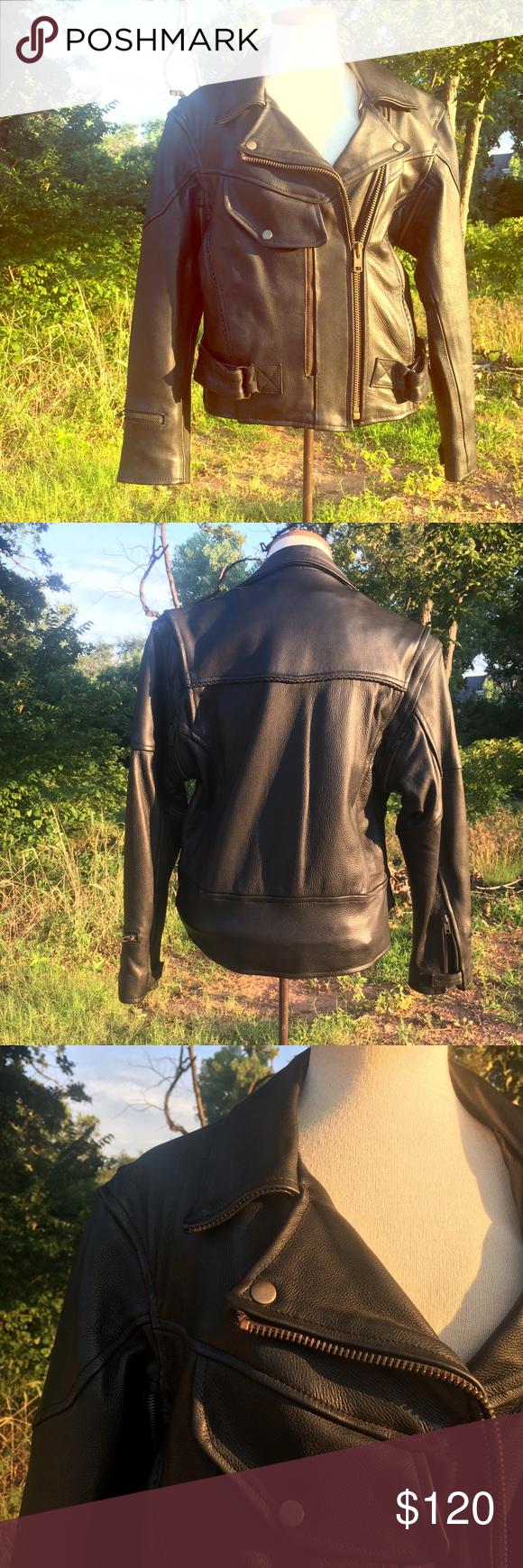 302439c83989 I just added this listing on Poshmark  Leather Motorcycle Jacket women s  medium.  shopmycloset