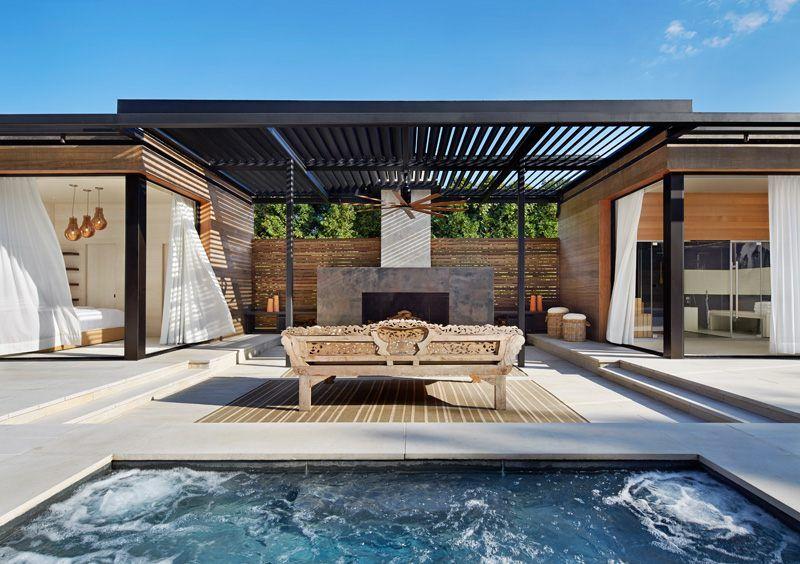 Gartenhaus Mit Terrasse Und Kamin Und Lounge Bereich