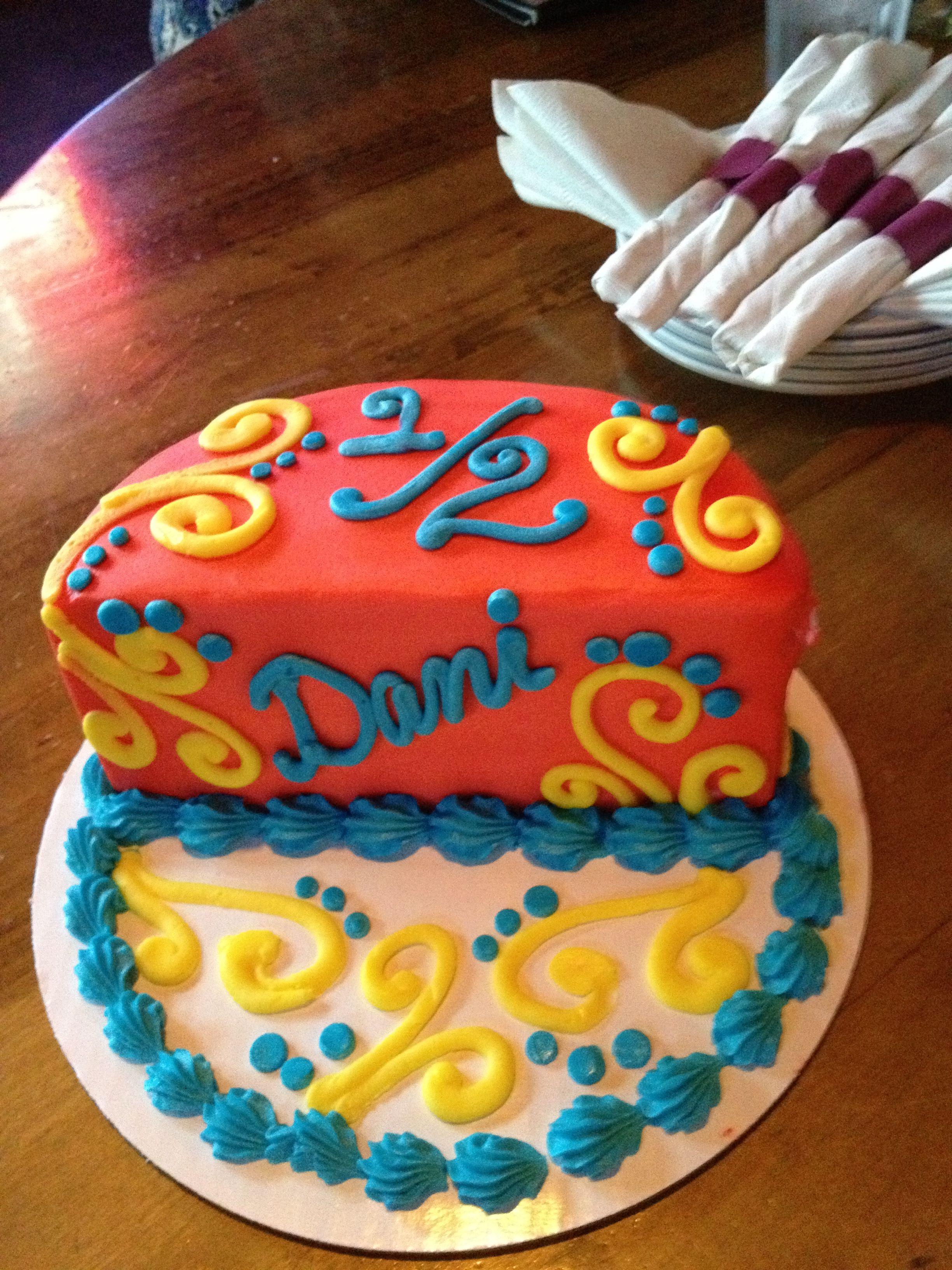 Superb Half Birthday Cake Half Birthday Cakes Half Birthday Happy Funny Birthday Cards Online Drosicarndamsfinfo