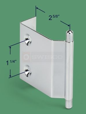 Metal Mirror Door Handle Chrome Finish Used On Frame Less Byp And Bifold Closet Doors Includes Installation Fasteners