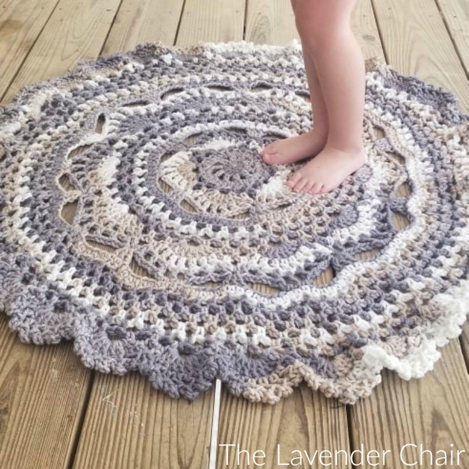 Midnight Star Mandala Rug Crochet Pattern Pdf Download Only Etsy In 2020 Crochet Rug Patterns Crochet Mat Crochet Mandala Pattern