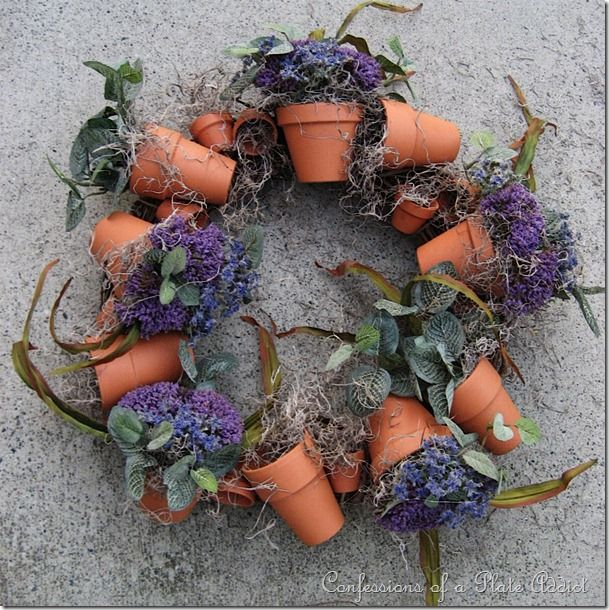 easy tutorial for flowerpot wreath