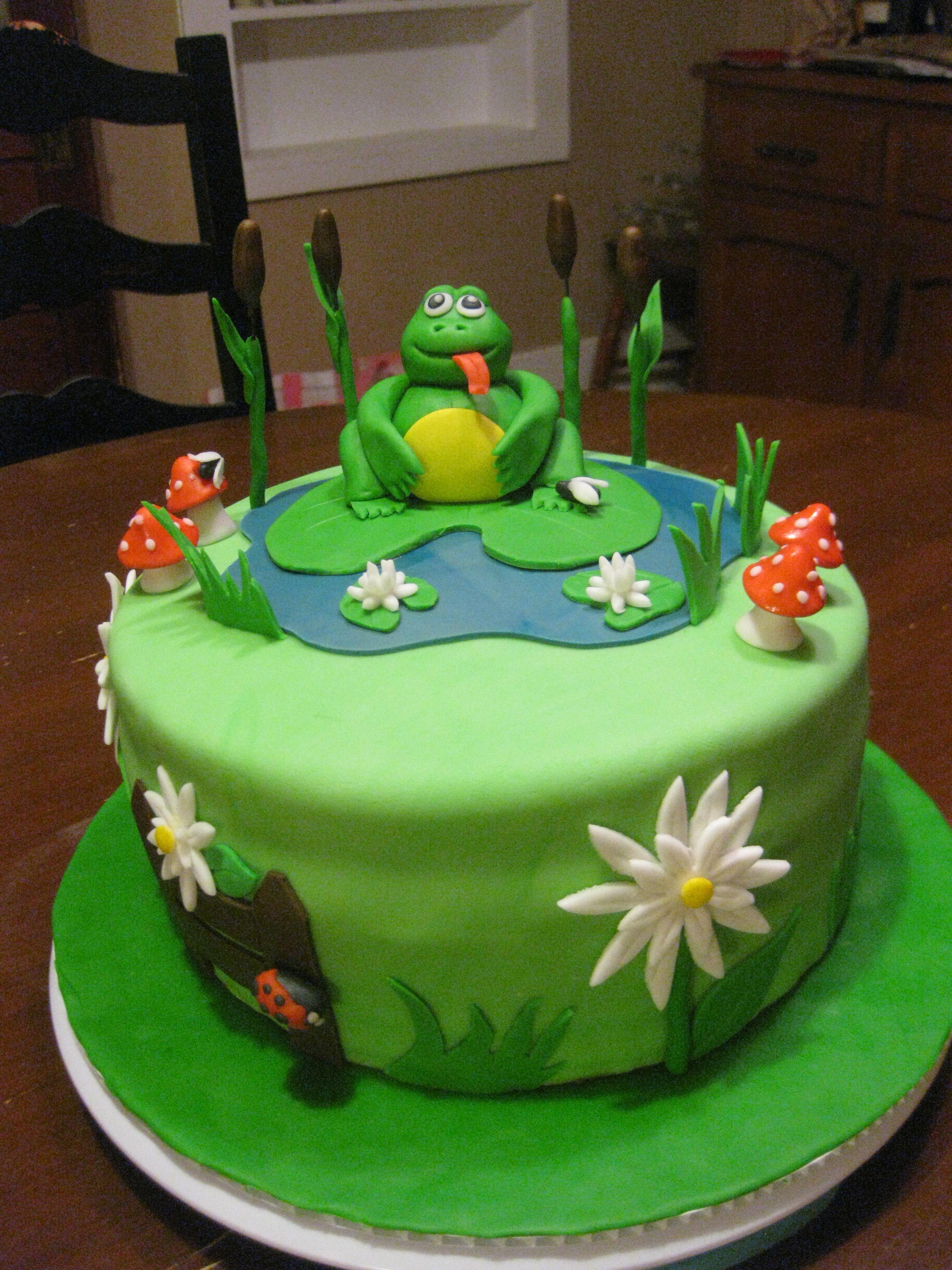 Make this cake Frog cakes, Kids cake, Cake decorating