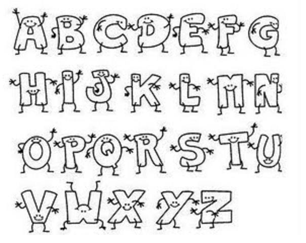 Abecedario de letras bonitas para colorear   Imagui | letras