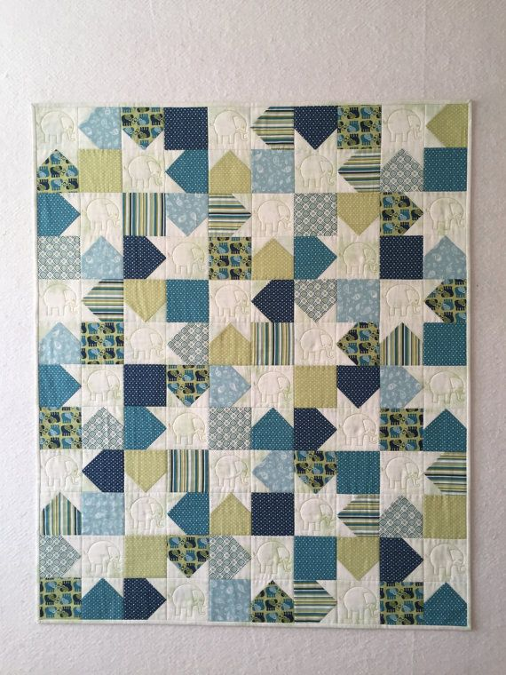 Modern Baby Quilt Baby Quilt Toddler Bedding Homemade By Lilyanlee