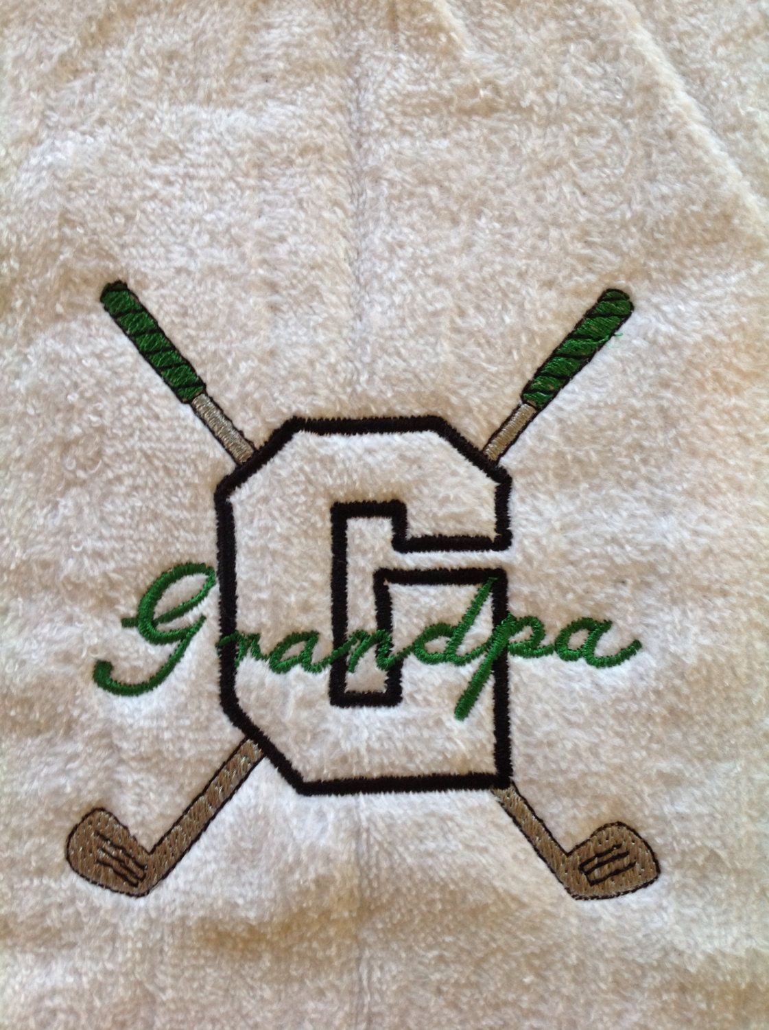 Grandpa golf towel in black or white by LindaKaysCreations on Etsy, $10.00