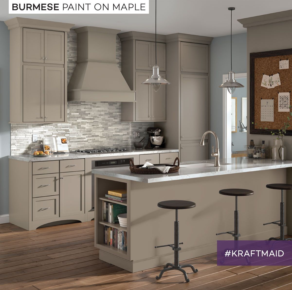 Kraftmaid S Burmese Paint Is A Warm