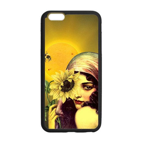 Sunflower Girl Case for iPhone 6 Plus