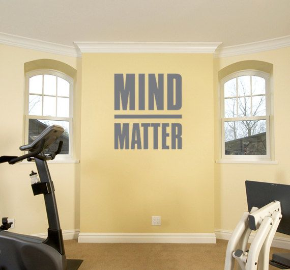 Mind over matter motivational decal for gym and workout