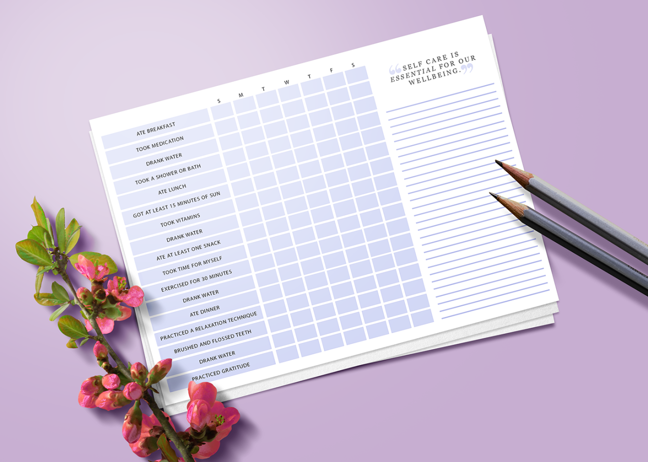 """sheisrecovering:  """" weekly self care checklist 2017 → download free  • includes basics such as hygiene, meals, medication, and more.  • perfect for binders, journals, etc. you may print as you wish, and I'd love to see how you guys use these if you want..."""