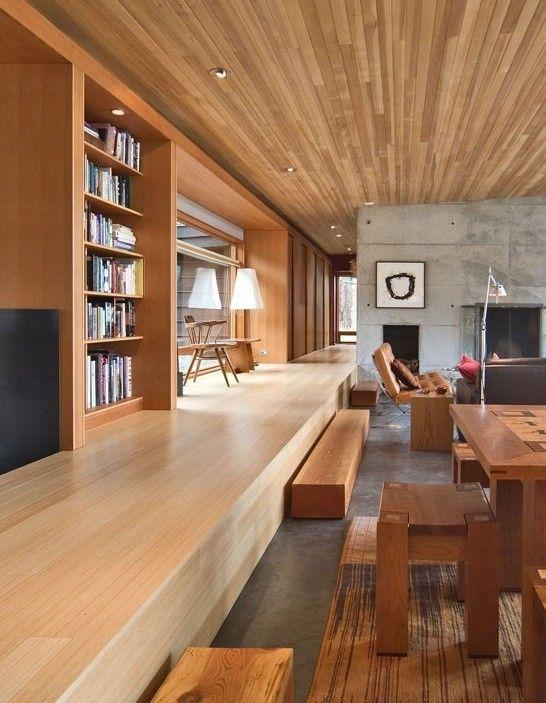 Living Materialidad: hormigon vito + madera   MI CASA   Pinterest ...