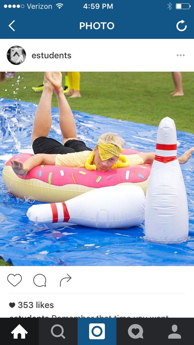 Slip N Slide Bowling Games Pinterest Slip N Slide Party And