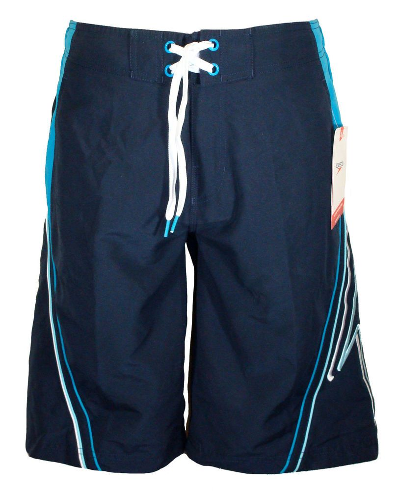 76d6263266 NEW Speedo Mens Swim Board Shorts VELOCITY SPLICE Swimwear Navy Blue S NWT  $58 #Speedo #BoardShorts
