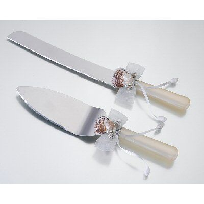 Cake knife and server set, perfect for a beach or beach themed wedding