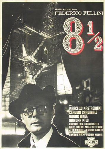 8 1 2 Original Italian 4 Sheet Vintage Movie Poster Fellini Movie Posters Vintage Movie Posters Cinema Posters