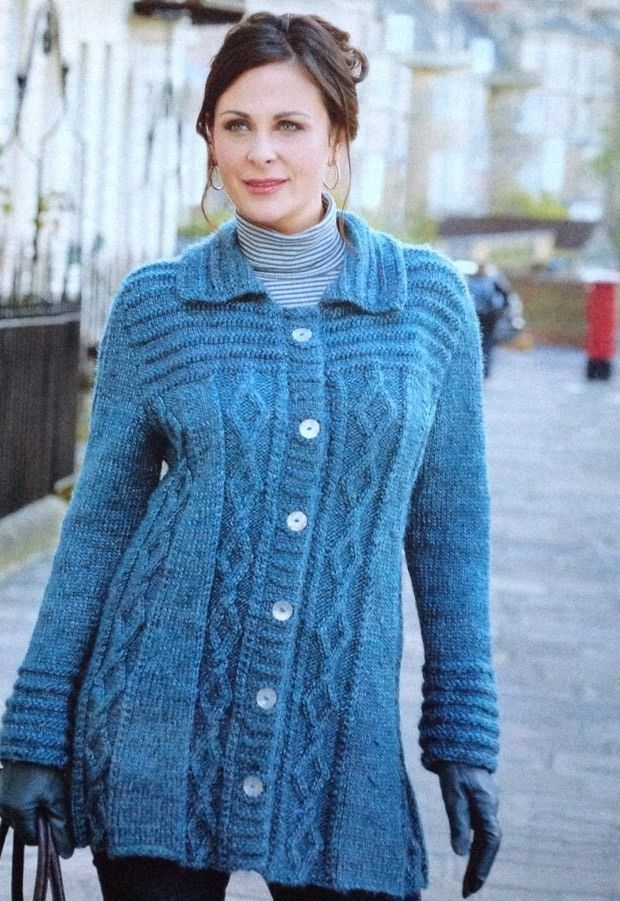 Knitting Pattern For Ladies Jacket To Fit 33 49 Ladies Jackets